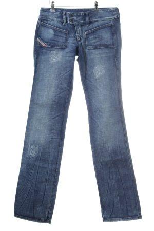 Diesel Industry Jeans flare bleu style déchiré