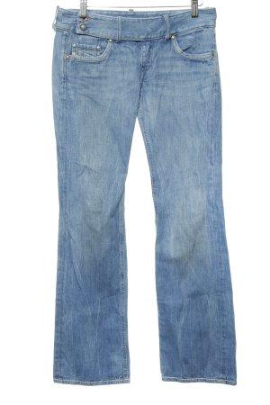 Diesel Industry Jeans a zampa d'elefante azzurro Stile anni '90