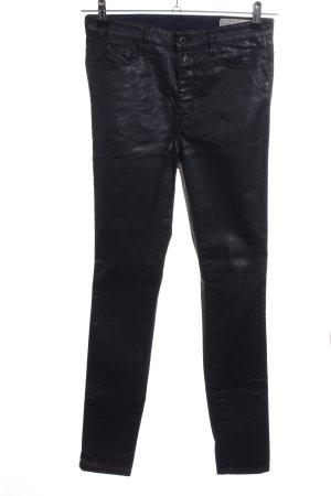 Diesel Industry Pantalone in pelle nero stile casual