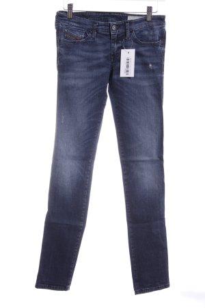 Diesel Industry Skinny Jeans dunkelblau-graublau Casual-Look