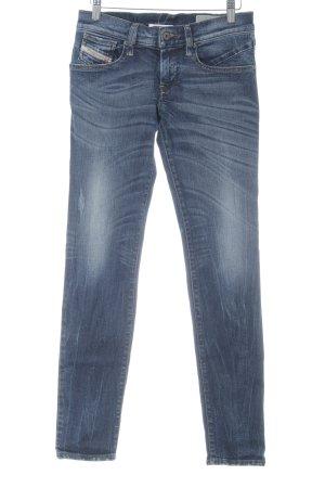 Diesel Industry Skinny Jeans dunkelblau schlichter Stil