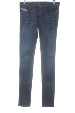 Diesel Industry Skinny Jeans dunkelblau Washed-Optik