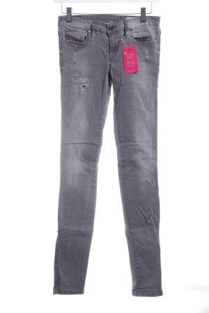 Diesel Industry Skinny Jeans hellgrau-grau Casual-Look