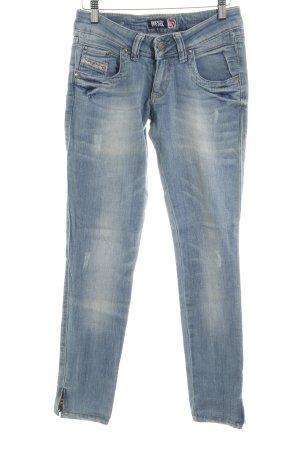 Diesel Industry Skinny Jeans kornblumenblau Casual-Look