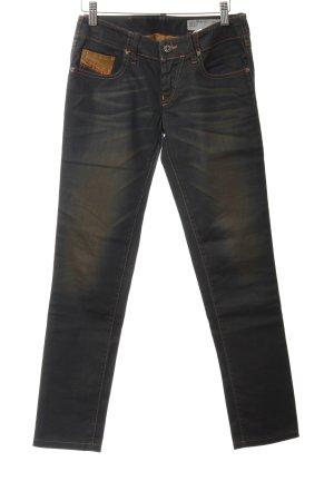 Diesel Industry Skinny Jeans schwarz Bleached-Optik