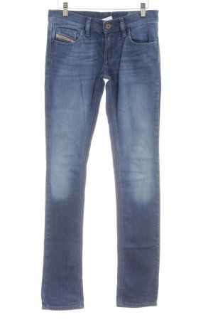 Diesel Industry Skinny Jeans stahlblau-blassblau Used-Optik