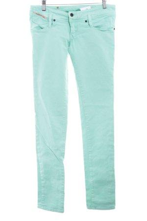 Diesel Industry Skinny Jeans türkis Washed-Optik