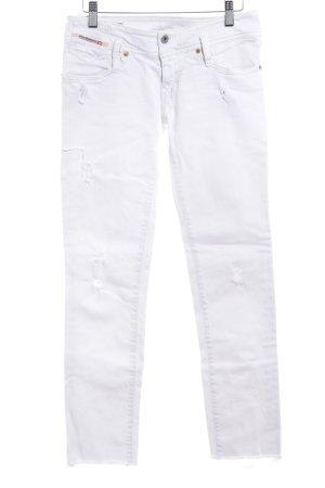 Diesel Industry Skinny Jeans weiß Destroy-Optik