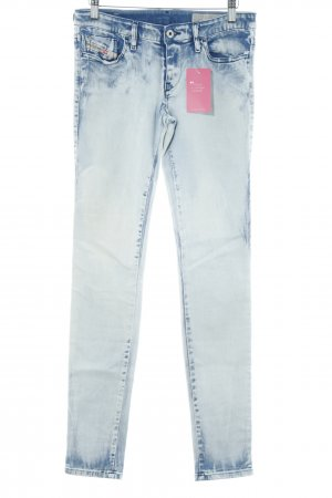 Diesel Industry Skinny Jeans weiß-stahlblau Casual-Look