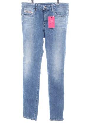 Diesel Industry Slim Jeans blau-weiß Casual-Look