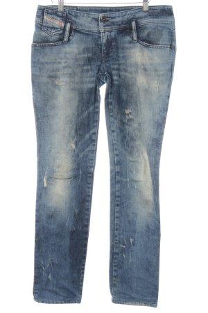 Diesel Industry Slim Jeans blau-creme Casual-Look