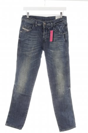 Diesel Industry Slim Jeans blau-weiß Used-Optik