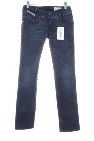 Diesel Industry Slim Jeans dunkelblau Bleached-Optik