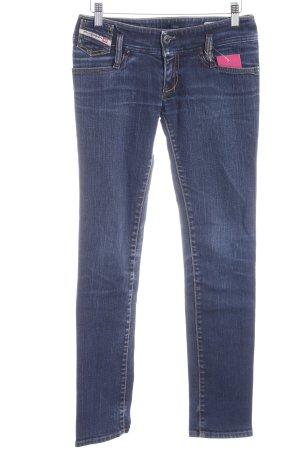 Diesel Industry Slim Jeans dunkelblau-kornblumenblau Used-Optik