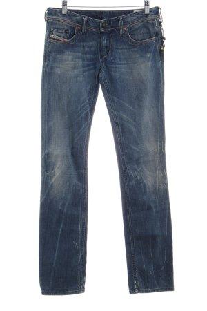 Diesel Industry Slim Jeans graublau Destroy-Optik