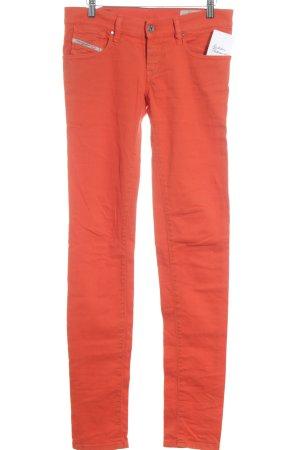 Diesel Industry Jeans slim orange fluo style décontracté
