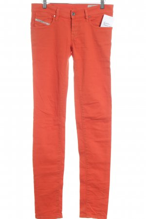 Diesel Industry Slim Jeans neonorange Casual-Look