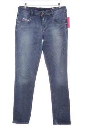 Diesel Industry Slim Jeans stahlblau Destroy-Optik