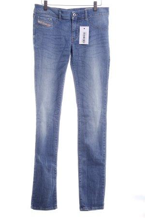 Diesel Industry Slim Jeans stahlblau-himmelblau Casual-Look