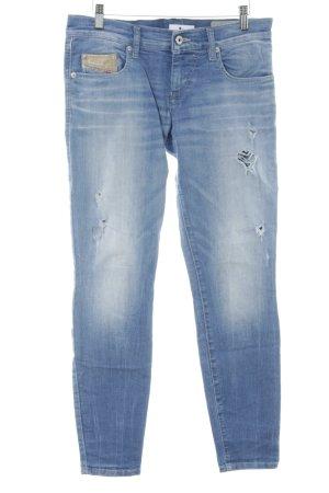 Diesel Industry Slim Jeans wollweiß-stahlblau Used-Optik