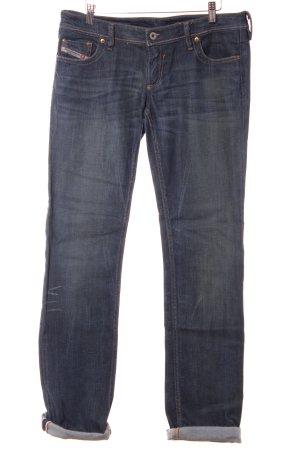 Diesel Industry Straight-Leg Jeans blau Washed-Optik