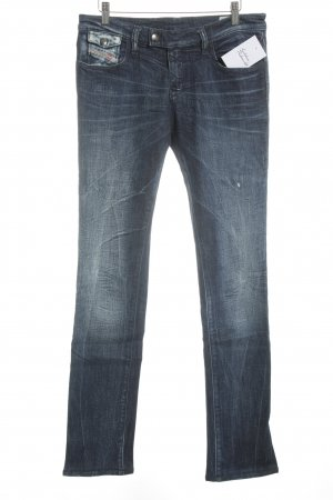 Diesel Industry Straight Leg Jeans dark blue casual look