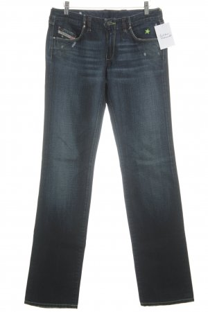 Diesel Industry Straight-Leg Jeans dunkelblau Used-Optik