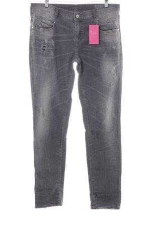 Diesel Industry Straight-Leg Jeans grau Used-Optik