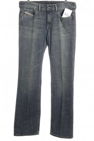 Diesel Industry Straight-Leg Jeans hellgrün-dunkelblau Washed-Optik