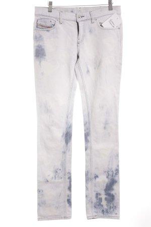 Diesel Industry Straight-Leg Jeans himmelblau Batikmuster Retro-Look
