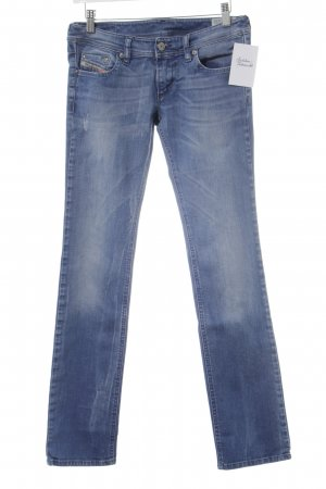 Diesel Industry Straight-Leg Jeans himmelblau Destroy-Optik