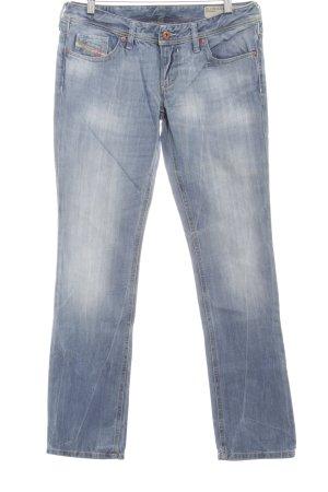 Diesel Industry Straight-Leg Jeans himmelblau-wollweiß Used-Optik