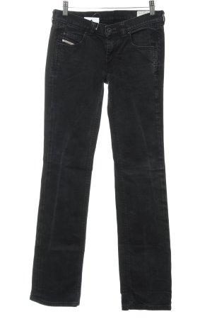 Diesel Industry Straight-Leg Jeans schwarz Casual-Look