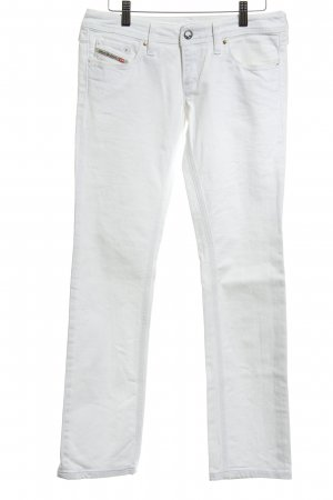 Diesel Industry Jeans a gamba dritta bianco stile casual