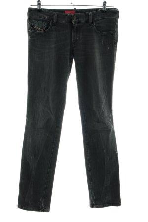 Diesel Industry Stretch Jeans schwarz Casual-Look