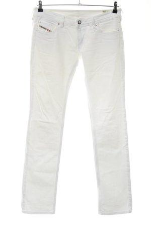 Diesel Industry Jeans stretch blanc style décontracté