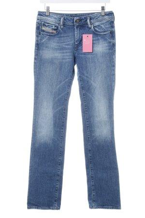 Diesel Industry Stretch Jeans blau Used-Optik