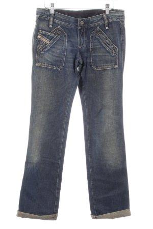 Diesel Industry Stretch Jeans creme-stahlblau Casual-Look