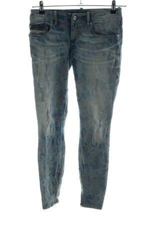 Diesel Industry Stretch Jeans blau-khaki Allover-Druck Casual-Look