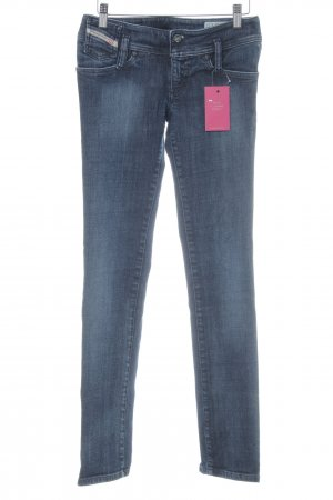 Diesel Industry Stretch Jeans dunkelblau-kornblumenblau meliert Used-Optik
