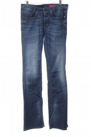Diesel Industry Stretch jeans donkerblauw simpele stijl