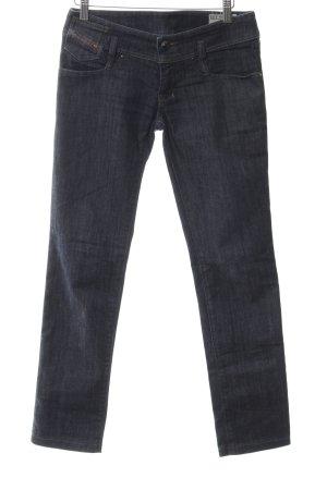 Diesel Industry Stretch Jeans dunkelblau-weiß Casual-Look