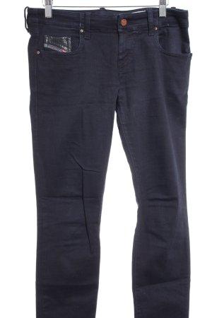 Diesel Industry Stretch Jeans schwarz-dunkelblau Casual-Look
