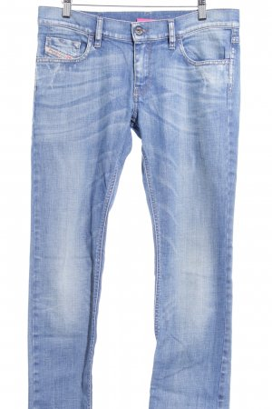 Diesel Industry Stretch Jeans stahlblau-blassblau Casual-Look