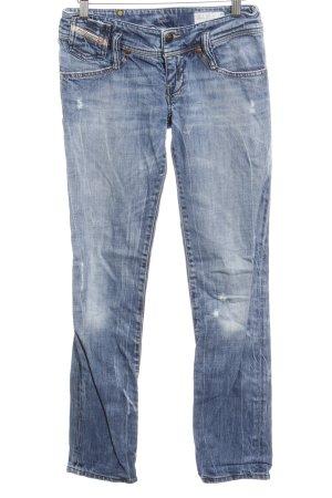 Diesel Industry Stretch Jeans stahlblau Destroy-Optik