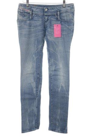 Diesel Industry Stretch Jeans stahlblau-hellbeige Casual-Look