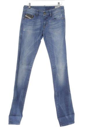 Diesel Industry Jeans elasticizzati blu acciaio-beige chiaro stile casual