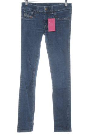 Diesel Industry Stretch Jeans stahlblau meliert Casual-Look