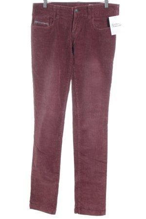 Diesel Industry Pantalone elasticizzato bordeaux puntinato stile casual