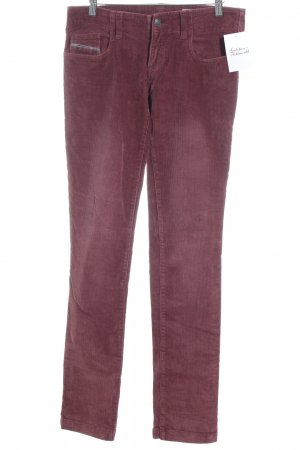 Diesel Industry Stretchhose bordeauxrot meliert Casual-Look